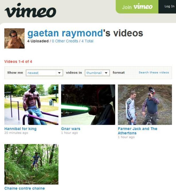 http://vimeo.com/gaetanraymond/videos