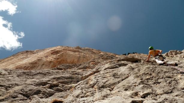 Bille de Clown au rocher du midi, Nils dans L5 : 6c