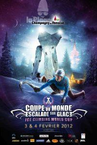 Coupe du monde d'escalade sur glace à Champagny en Vanoise (France) les 3 et 4 février 2012