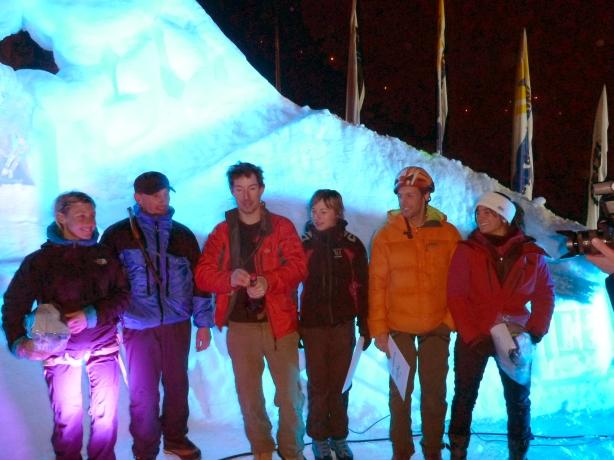 Les finalistes du dry contest de l'Ice climbing Ecrins 2012