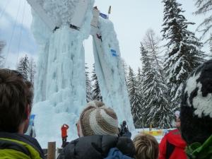 La tour de glace à champagny en Vanoise