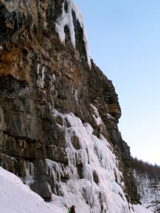 notre objectif initial, on voit bien les 10m de glace qu'il manque...