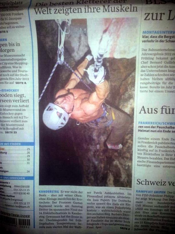 Article dans le journal Suisse