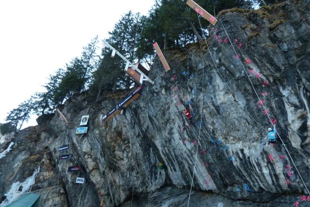 La falaise de dry de Kandersteg