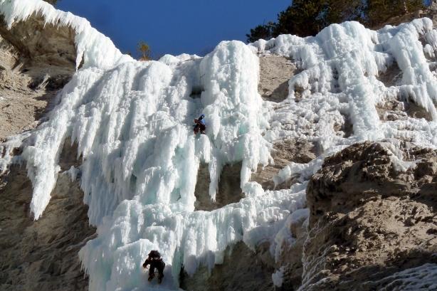 le mur de glacenost, cadeau surprise est la ligne de glace étroite à droite