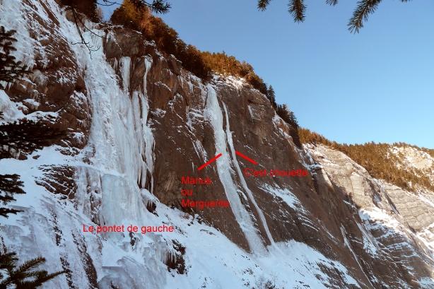 Le mur du Pontet à Bourg d'Oisans