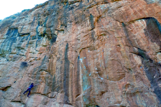 Chaos cliff, Katerina in the warm up route, Delice, 7a+