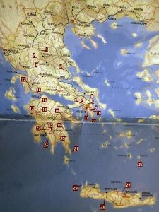 Greek climbing map
